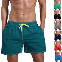 Mens Drawstring Beach Shorts Comfort Slim Fit Casual Summer Pants Travel Surfing