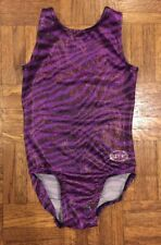 Girls Ozone Gymnastics Leotard Purple Black Size Youth Small Good Condition