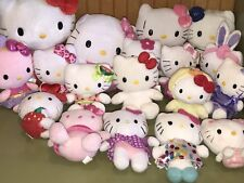 HELLO KITTY Huge Lot of 18 Stuffed Animal Plush Toys Ty Fiesta Sanrio Nakajima +