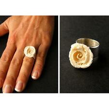 Wunderschöner Ring aus Koralle ROSE, Silber 925, UNIKAT NEU