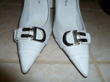 """Michael Khors high heel 3.4"""" -White pointed Toe pump- Leather 9m"""