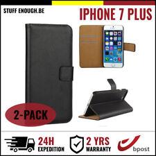 2IN1 Wallet Case Cover Cas Coque Etui Portefeuille Hoesje Black Fr iPhone 7 Plus