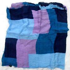 "Cejon Ladies Rayon Shawl 20"" X 74"" Navy/Blues/Lavender Patchwork"