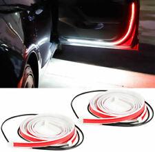 2/4X Car Door Open Warning Lamp Flowing Flashing LED Lights Strip Anti-collision