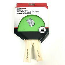 Rec Tek 2 Player Recreational Table Tennis Paddles Blue Green 2 Paddles
