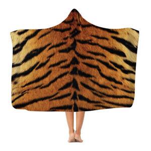 Tiger Print - Hooded Blanket