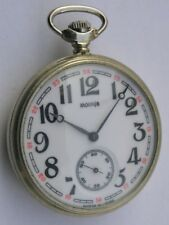 MOLNIJA OPEN FACE MEN'S POCKET WATCH CCCP/USSR 1970's WITH A SHIP