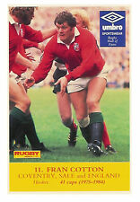 Fran Cotton, Coventry, Sale & England, Rugby World & Post series postcard