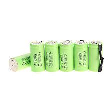 6pcs  Ni-Cd 600mAh 1.2V 2/3AA rechargeable battery NiCd Batteries - Green