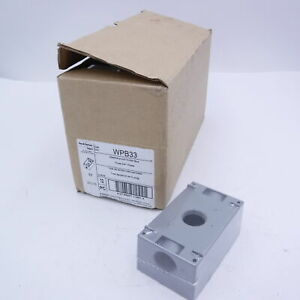 """(Box of 12) Pass and Seymour P&S WPB33 Weatherproof Outlet Box 3/4"""" Holes"""