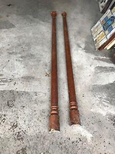 "Mark Pair Antique fluted Oak Corner columns 94"" X4.25"
