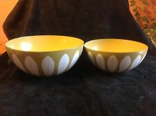 Vintage Cathrineholm Green Lotus Bowl Set