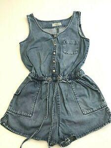 Ladies New Look Blue Denim Playsuit UK Size 8 EU 36 One piece Shorts