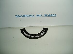 DECAL UNLEADED FUEL ONLY  MGB  408-570 CRST149