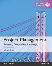 3 Days AUS Project Management Achieving Competitive Advantage 4E Jeffrey K Pinto