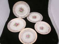 Triumph by Limoges Made in USA Rosalie Warranted 22K Gold Dinner Plates & Bowls