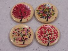 10 x Unusual Modern Tree Design Wooden Buttons 30mm FREE P&P