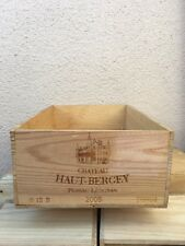 Wine Box Case Crate 12 Bottle French Chateau Haut Bergey Bordeaux