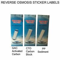 Reverse Osmosis RO Water Filters Housing Stickers for PP Sediment,CTO Carbon,GAC