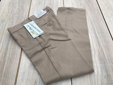 "Lot 5 Girls School Uniform Pants Size 4 23"" Waist 19"" Inseam Waistband Khaki"