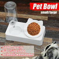 Automatic Pet Water Feed in One Dispenser Dog Cat Self Feeding Food Water Bowl