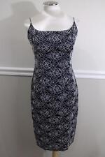 Carmen Marc Valvo Collection JEWEL  Beaded Sheath NAVY Dress SIZE 8 (DR1000