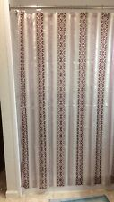 Shimmer Sheer Stripe Purple Fabric Shower Curtain by Better Home 72x72