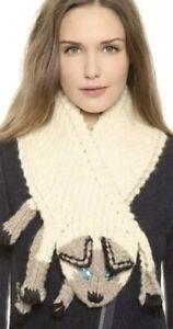 2d. Eugenia Kim Kitty Scarf 100% Wool Cream Oatmeal Color Siamese Cat Nwt $275