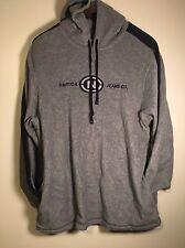 VTG NAUTICA Jeans Co Men's Gray Hoodie Jacket Sweatshirt Fleece Size XXL