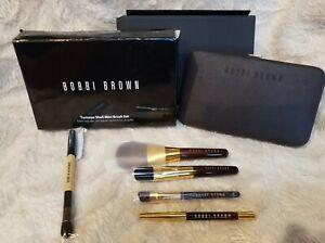 BOBBI BROWN Tortoise Shell Mini Brush 5-pc set Sweep Eyeliner Shadow Angle Blush