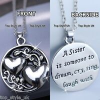 XMAS SALE GIFTS FOR HER - Sister Necklace Best Friends Forever Women Girls K7