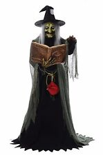 GRANDIN ROAD LIFESIZE ANIMATED SPELL CASTING  WITCH LED EYE HALLOWEEN PROP