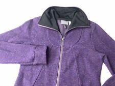 Ibex Full Zip Wool Jacket Purple Women's Size Small
