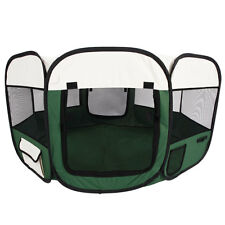 """45"""" Kennel Pet Fence Puppy Soft Oxford Playpen Exercise Pen Folding Crate Green"""