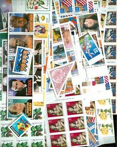 US Mint Discount Postage 100 x International Rate in 5-STAMP Combo, Below Face