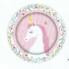 Unicorn Party Supplies - Unicorn Party Plates 8 pack - 23cm