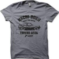 Hachi Roku AE 86 Trueno Panda printed cotton t-shirt 9007