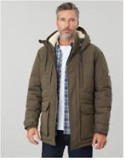 *CLEARANCE* Joules Mens Fernhurst Padded Waterproof Jacket - Green