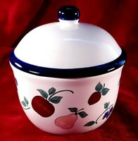 Princess House Orchard Medley 2 Piece Butter Tub / Candy Dish #242 Ceramic