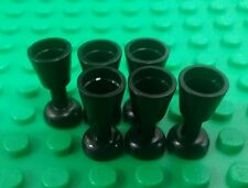 *NEW* Lego Black Goblets Wine Cups Knights Kingdom Castle Figures People 6 piece