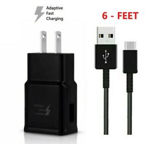 Fast Wall Charger +6FT Type-C CABLE for Original Samsung Galaxy A21 A51 A71 BLK