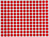 """Color Labels Round Circle Dots 8mm 1/4"""" Inch Round Adhesive Stickers 2520 Pack"""