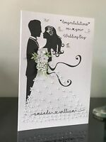 Personalised Handmade Wedding Congratulations Card Boxed or Envelope
