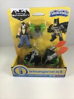 Imaginext Streets Of Gotham City Bane & Motorcycle DC Super Friends ages 3-8 yrs