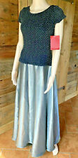JS Collections Womens Silvery Sequined Full-Length Formal Prom Dress Gown 16 NWT