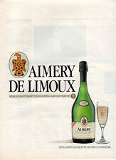 Publicité Advertising 1986  AIMERY DE LIMOUX appellation blanquette de limoux