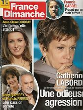FRANCE DIMANCHE N° 3543--ANNE CLAIRE COUDRAY/FRANCIS CABREL/LABORDE/PERRIN