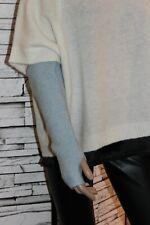 Gustav NEU Arm-Stulpen mit Wolle, Alpaca, Lurex Ice-Blau Hellblau Art.37816