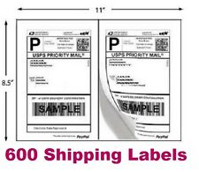 600 Shipping Labels Blank Self Stick Paper For Printing Usps Ups Ebay Postage