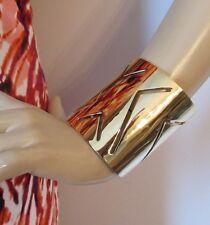 BRAND NEW ST JOHN KNIT WOMENS BRACELET DESIGNER GOLD COLOR LONG CUFF